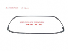 FORD FIESTA MK 8  CHROME  FRONT  BUMPER SURROUND  ( 08  58  09  58  09  59  10  11  12  13  REG )